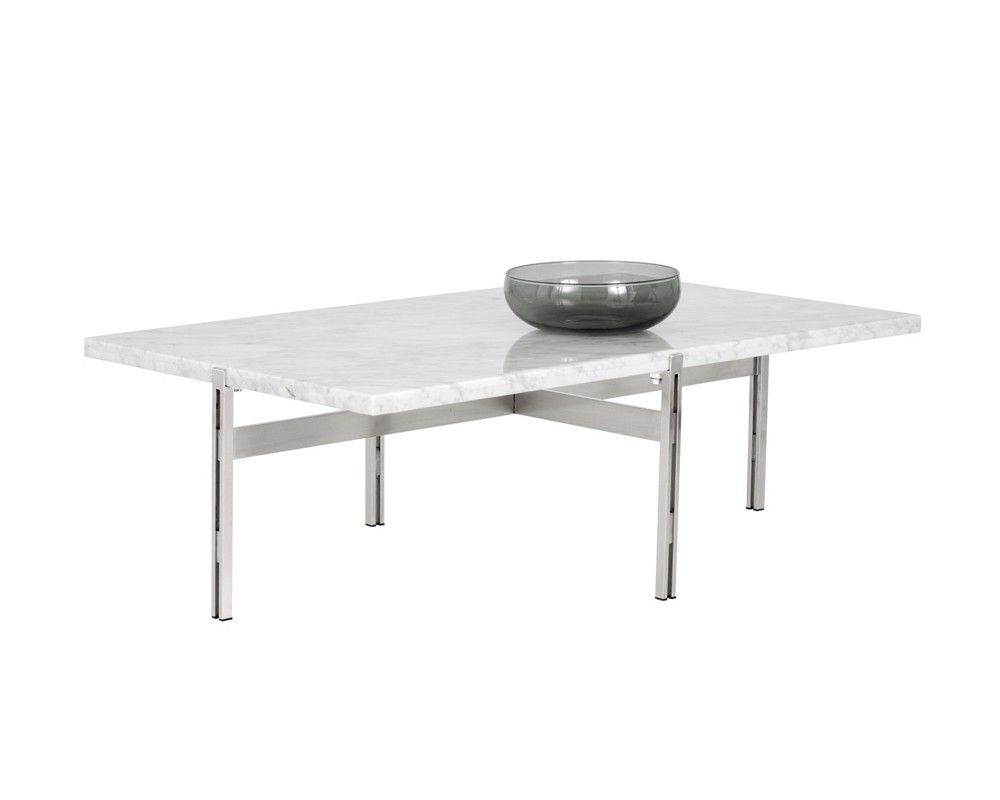 ENZO COFFEE TABLE – WHITE MARBLE