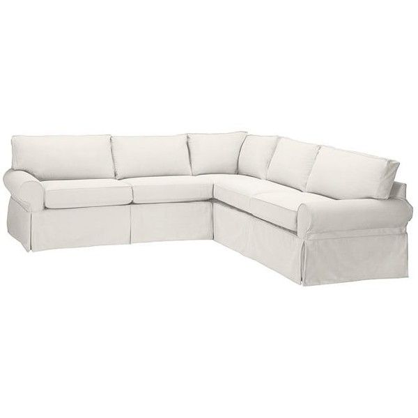 Pottery Barn PB Basic Slipcovered 2 Piece L Shaped Sectional
