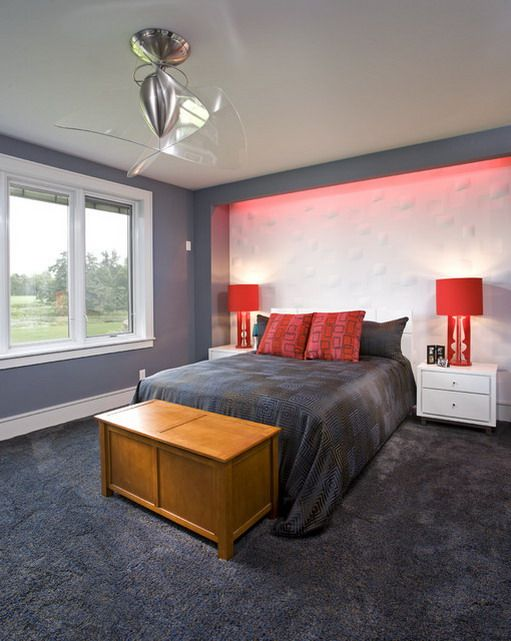 Red And Grey Bedroom Decoration Ideas