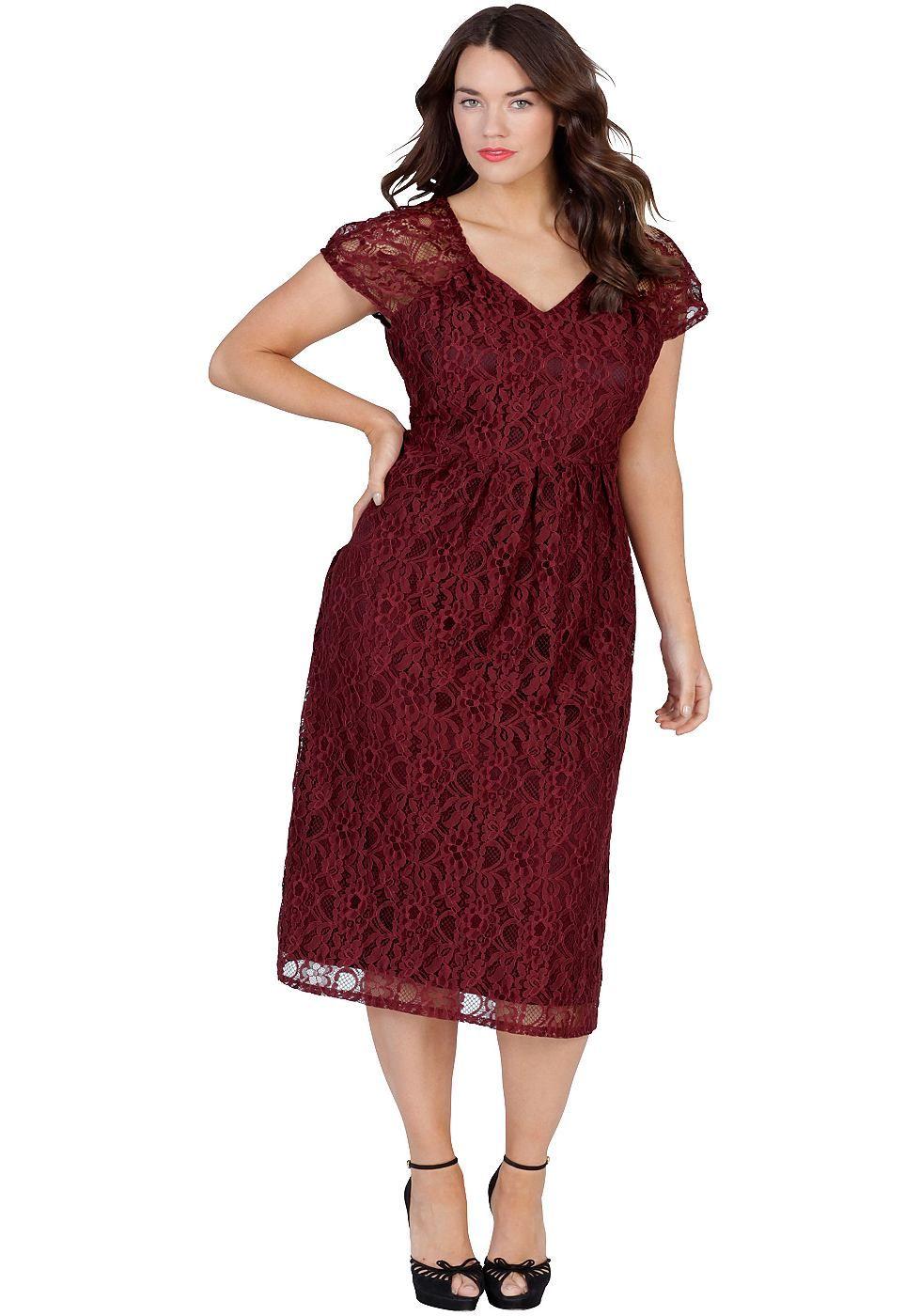sheego anna scholz spitzenkleid online kaufen | otto