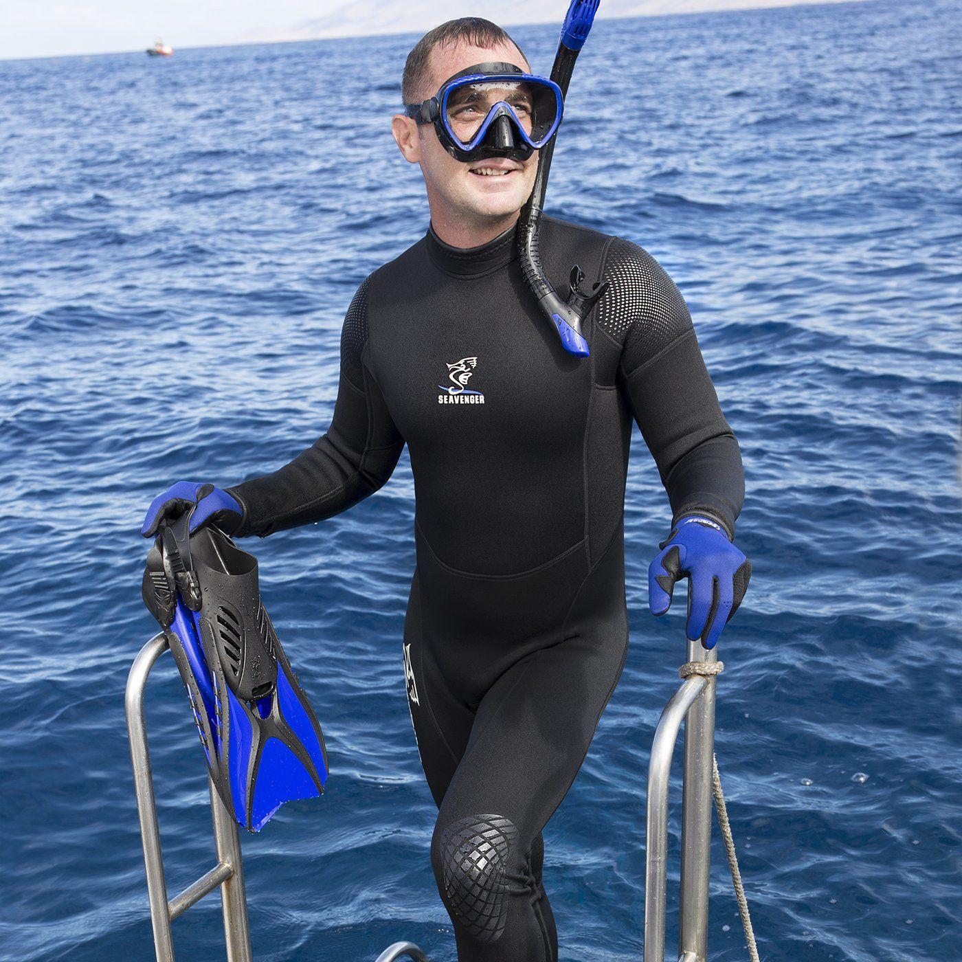 Seavenger Men s 3mm Neoprene Full-Length Wetsuit with Super Stretch Panels b06278f69