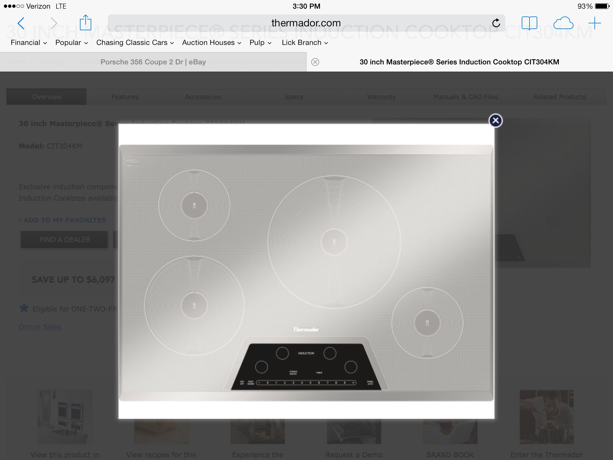 Thermador 30 Induction Cooktop