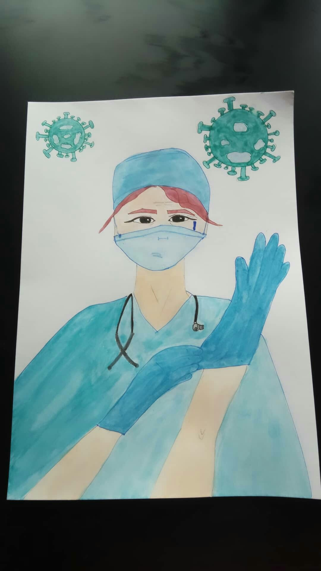 #nurse #coronovirus #painting #drawing #covid-19
