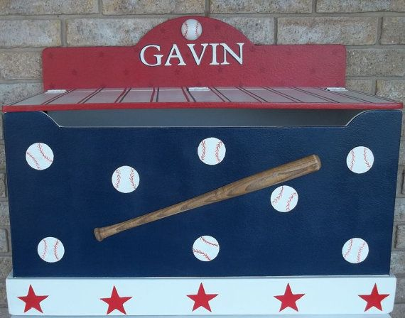 Enjoyable Sports Baseball Toy Chest Toy Box Storage Bench By Caraccident5 Cool Chair Designs And Ideas Caraccident5Info