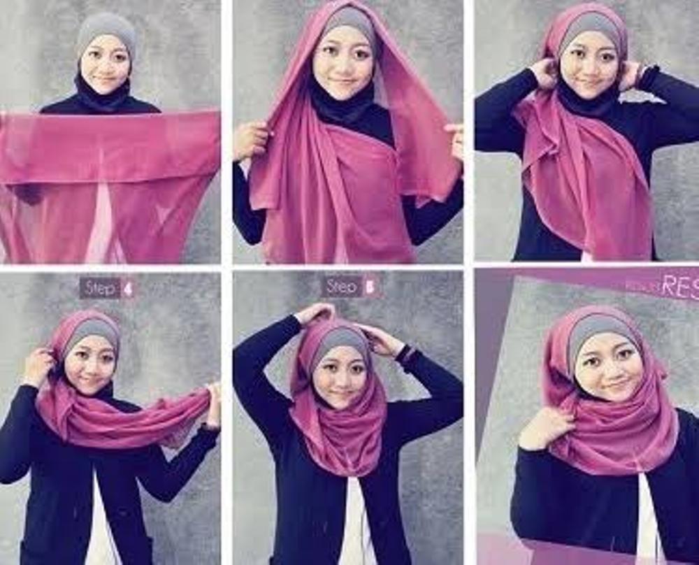 Gambar Tutorial Hijab Laudya Chintya Bella Sehari Hari  Tutorial Hijab