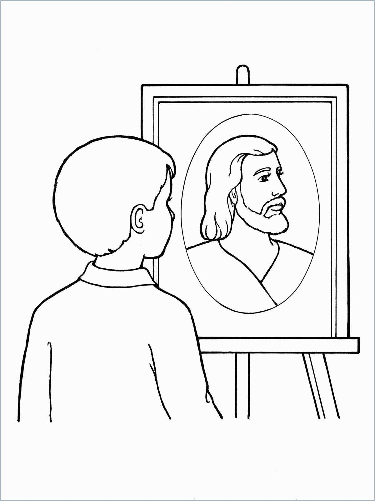 Faith In Jesus Christ Coloring Page