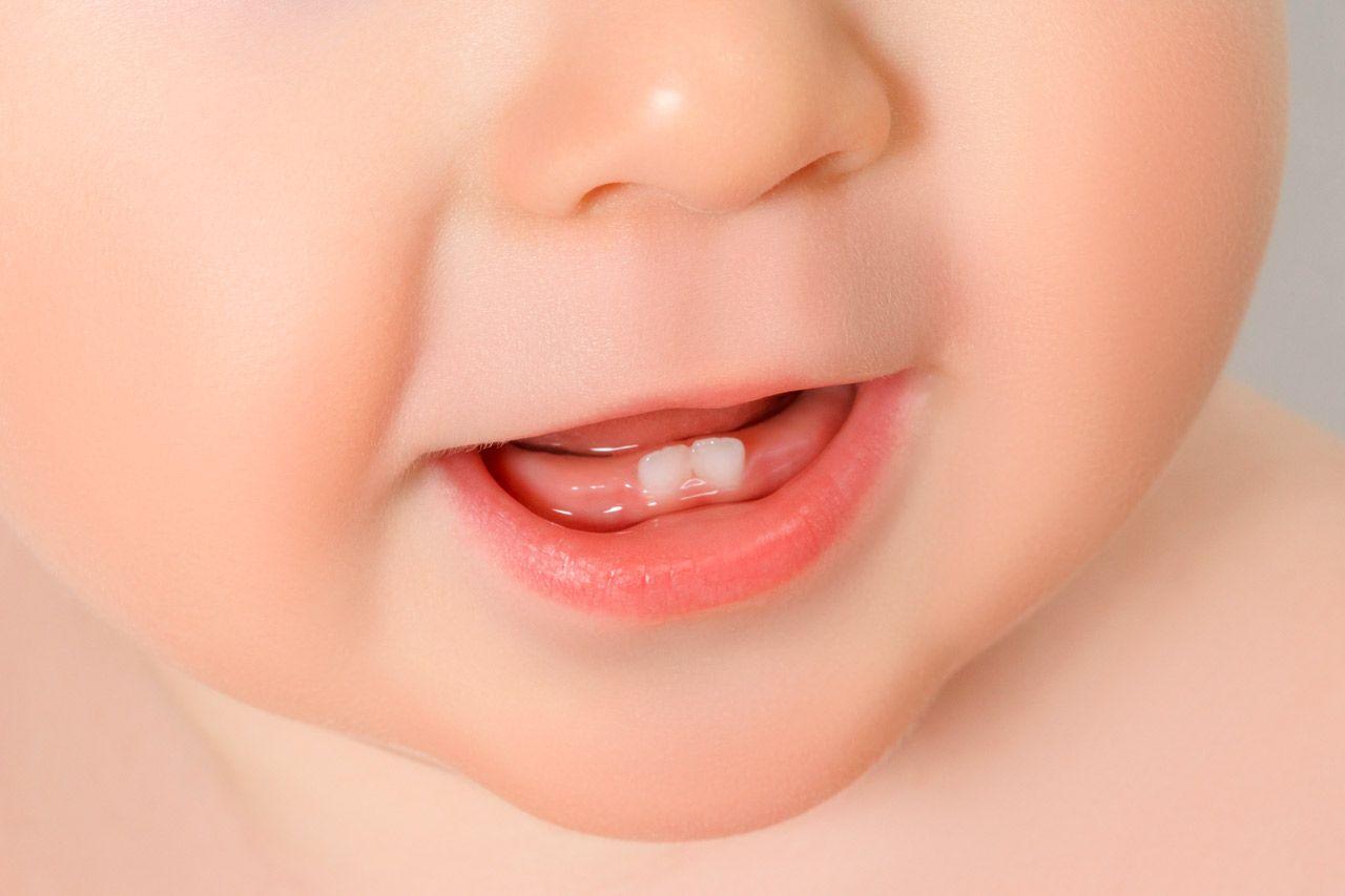 como salen los primeros dientes del bebe