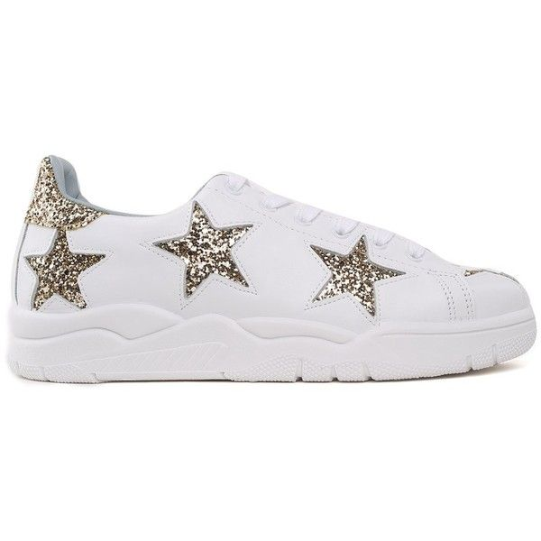 Chiara Ferragni Leather & Glitter Star Low Top Lace Up Sneakers Free Shipping Low Price Discount Buy Affordable Online Cheap Sale Affordable 9TIlt00vgZ