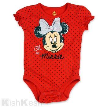 5d1ce8ffc42b Red Minnie Mouse creeper with black polka dots.  kishkesh  Disney ...