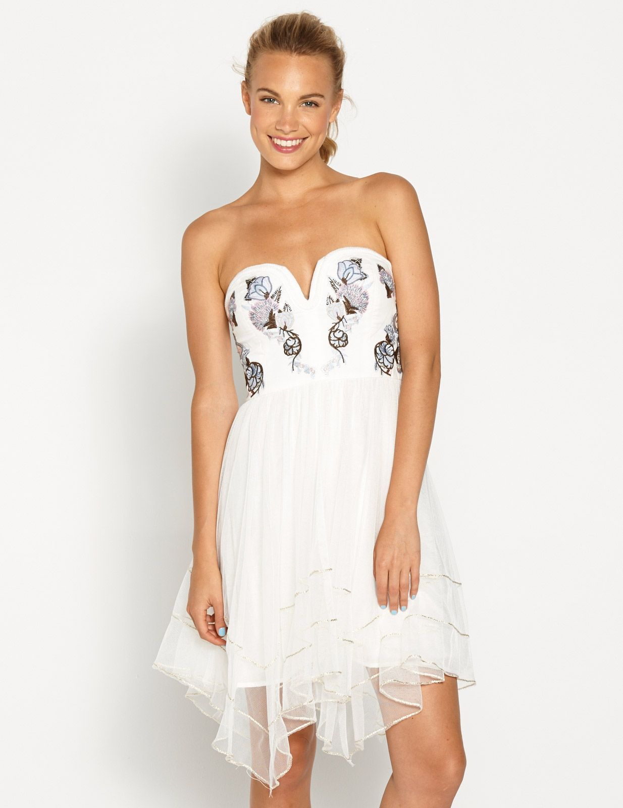 Heart Shaped Bust Featuring Embroidery Detail With An