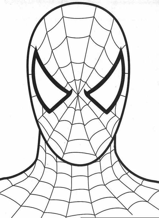 születésnapi torta kifestő spiderman face for cake shape and party favor bags. | Coloring  születésnapi torta kifestő