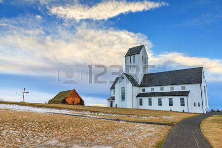Skalholt Cathedral on the golden circle route in Iceland