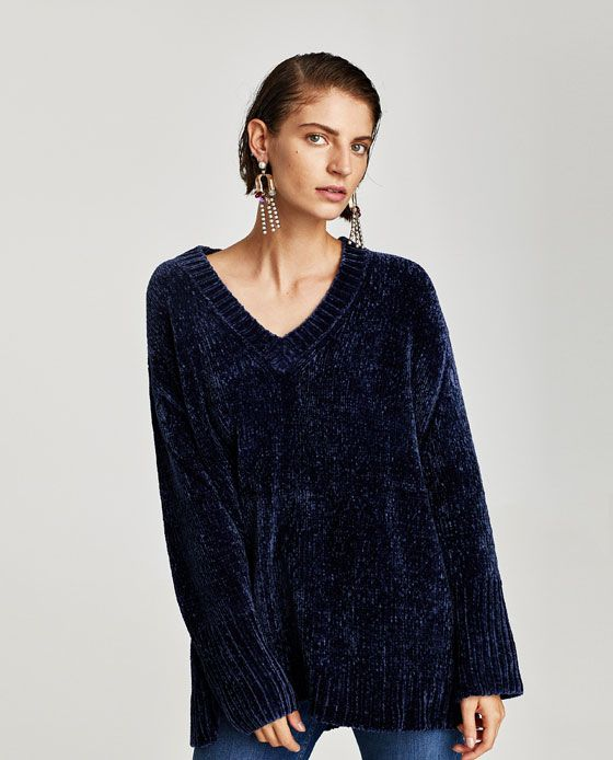 550fe10e Image 2 of OVERSIZED CHENILLE SWEATER from Zara | top it off in 2019 ...