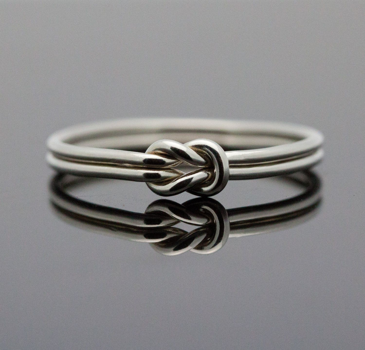 pin karat gold love promise knot infinity solid ring