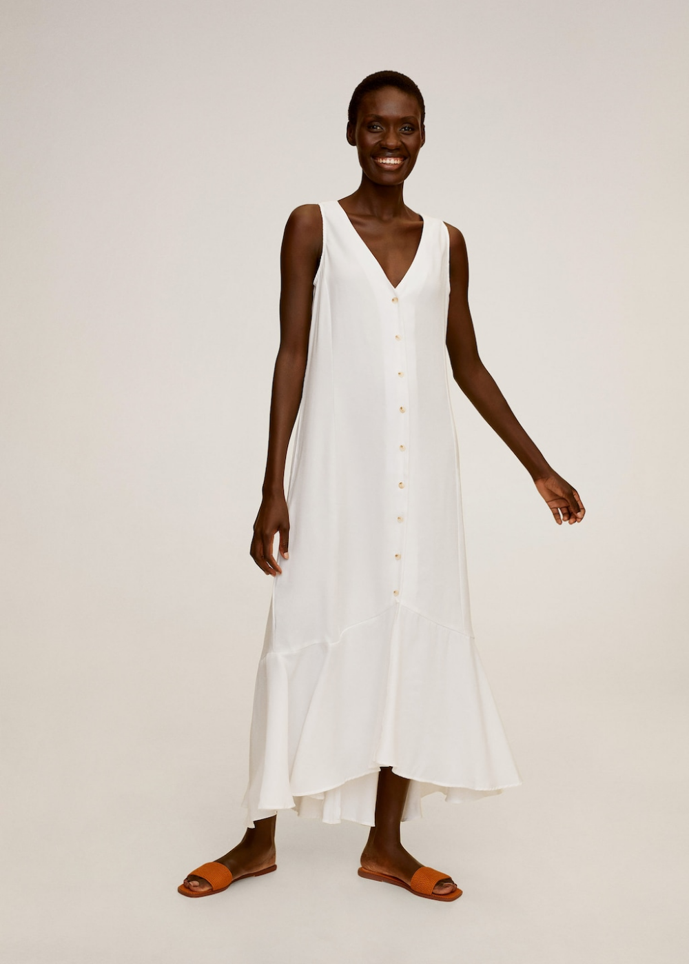 Buttoned gown Women Mango USA in 2020 Gowns, Fashion