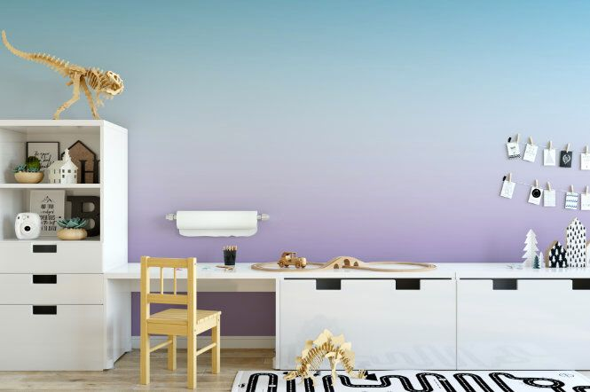 Pastel Blue and Purple Ombre Removable Wallpaper // Dip