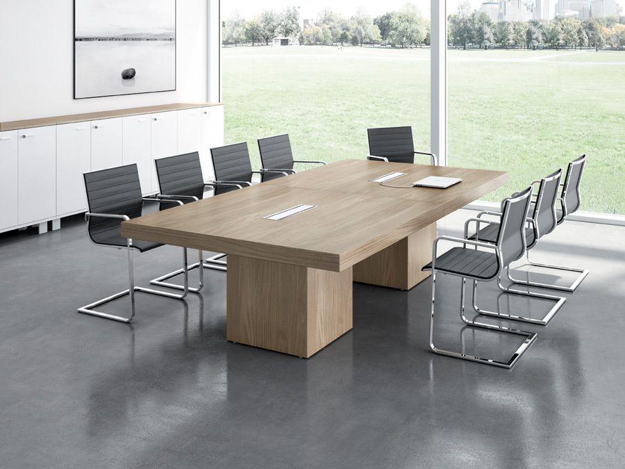 Mesa t45 reuniones con sobre realizado en tablero de for Mesa oficina moderna