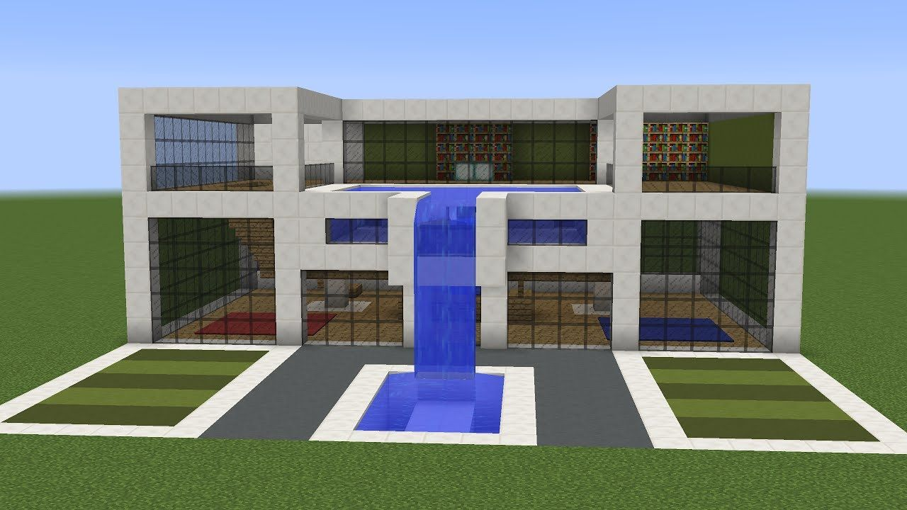 A New Tutorial On How To Build A Cool Modern House In Minecraft  This Building Features A Roofto