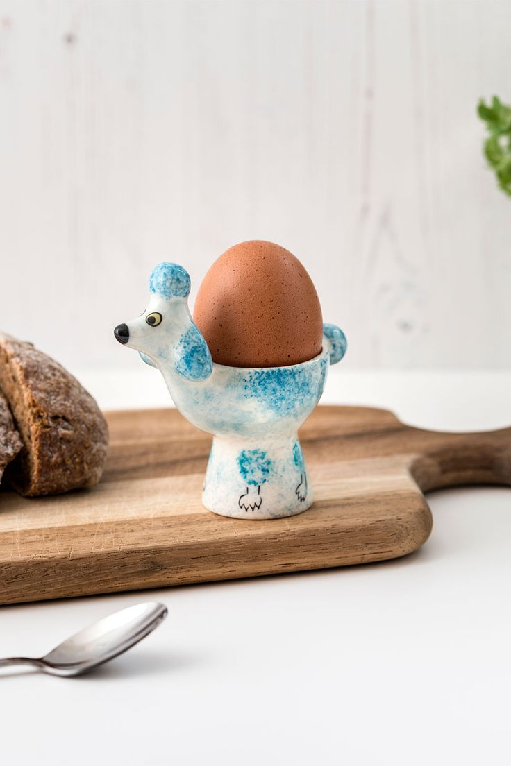 Brightenup breakfast with our kitsch Blue Poodle Egg Cup