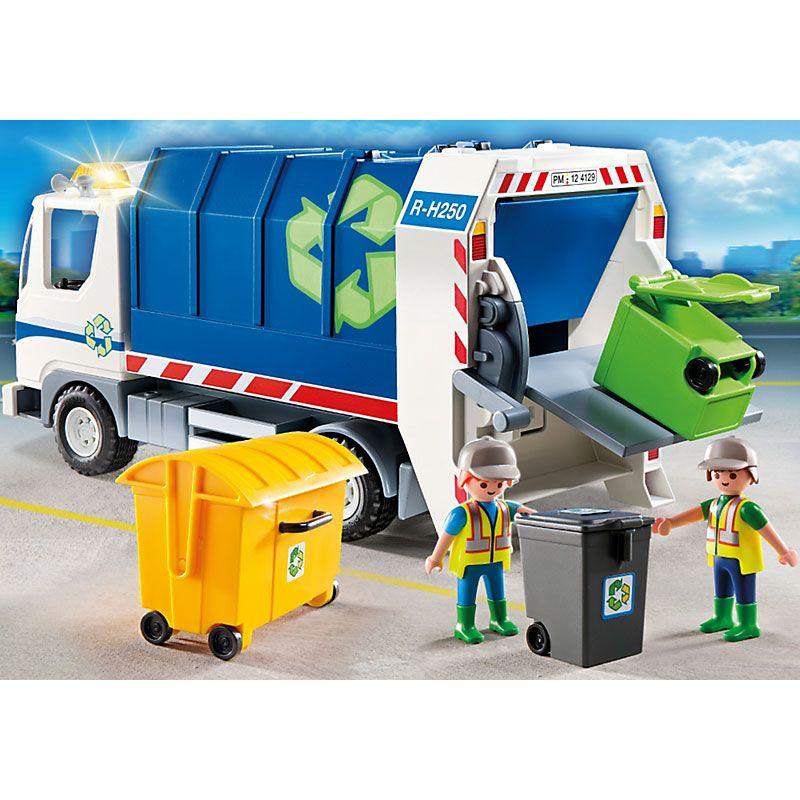 Playmobil City Action Śmieciarka ekologiczna z sygnałem błyskowym, 4129, klocki