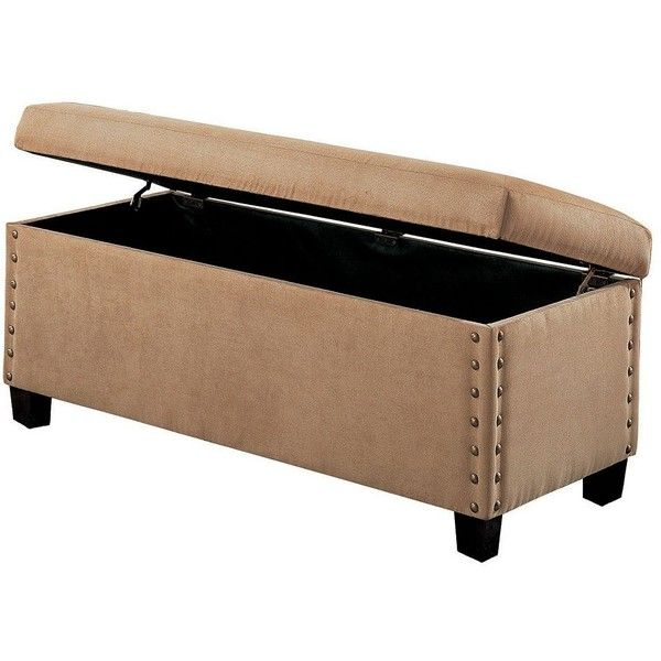 Coaster Contemporary Storage Ottoman (Brown) Featuring Polyvore, Home,  Furniture, Ottomans, Brown, Brown Furniture, Storage Footstool, Contemporary  Home ...