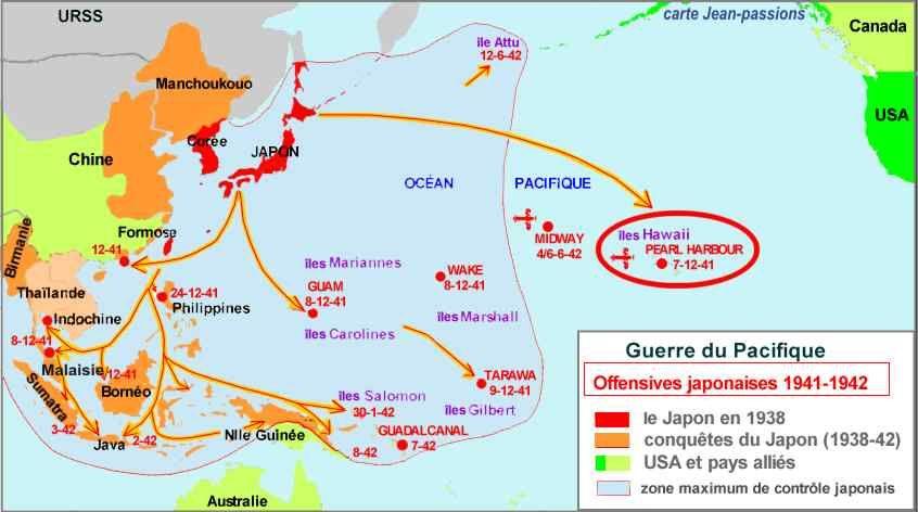 Guerre 39 45 Carte Pacifique Bing Images Guerre Du Pacifique