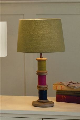 Bobbins table lamp amazing sooooo me the well dressed home pinterest table lamp room for Bright table lamp for bedroom