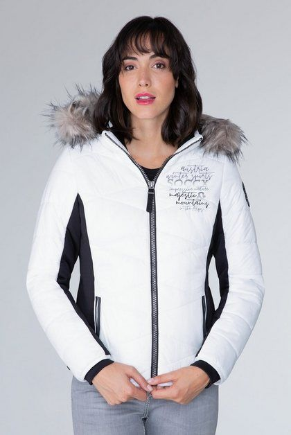Photo of SOCCX outdoor jacket with removable faux fur trim OTTO