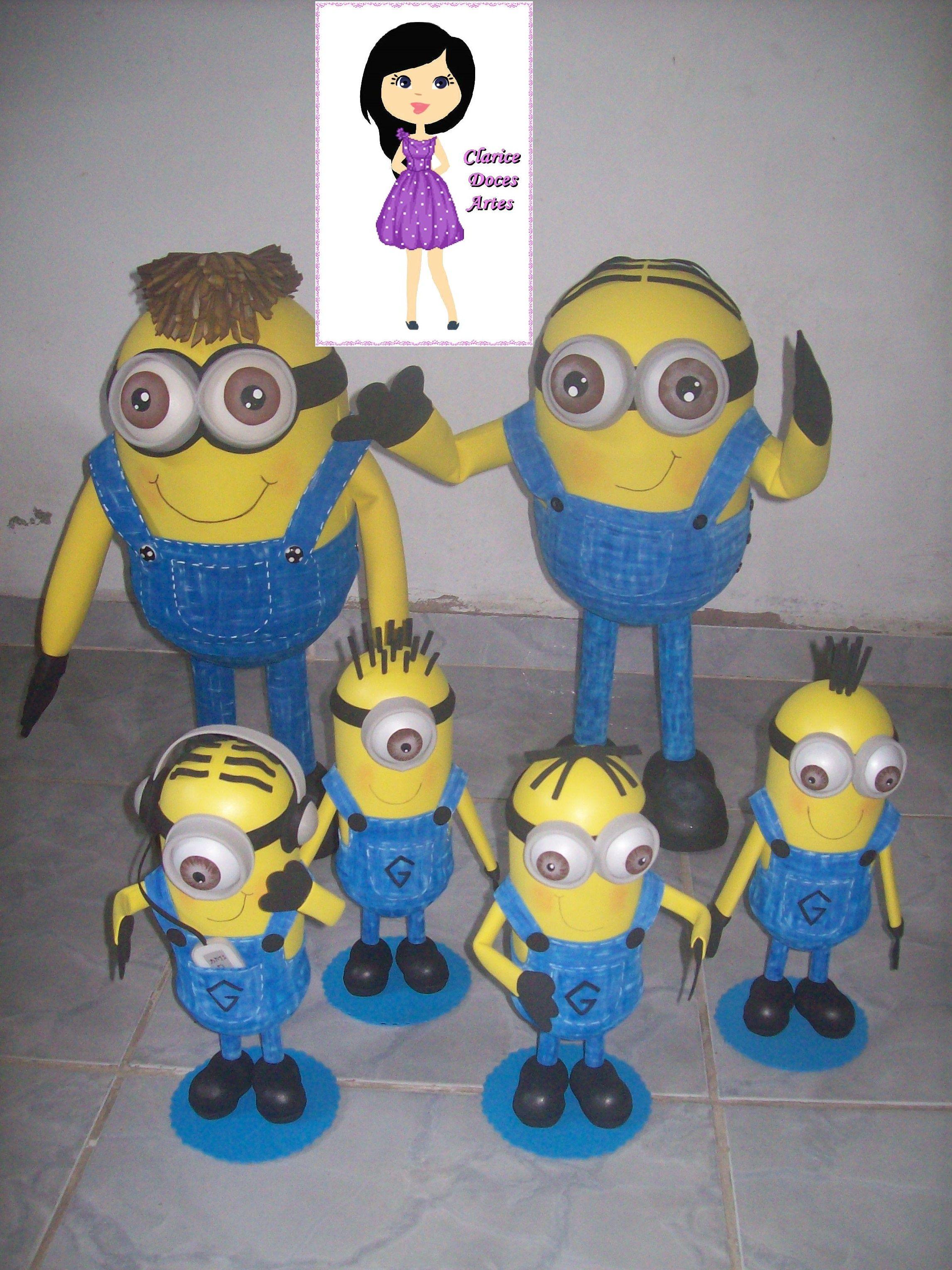 Bonecos em eva do tema Minions
