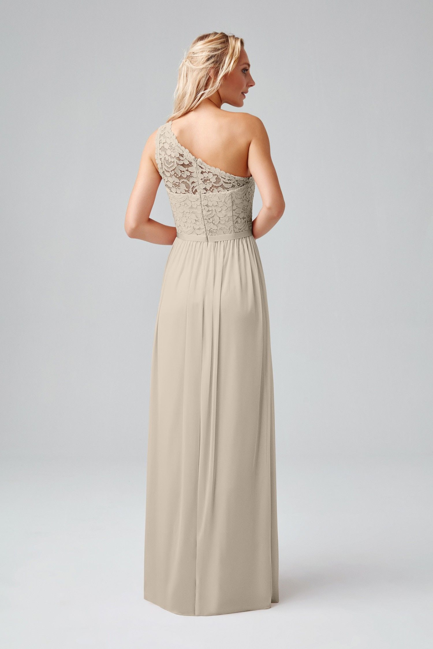 Long One Shoulder Lace Bridesmaid Dress F17063 Our