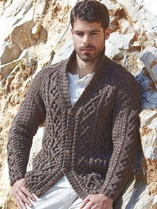 ff51b75ba Design from Wool Rich Aran Book (471) - 22 textured knits for women and men  in NEW YARN! Sirdar Wool Rich Aran
