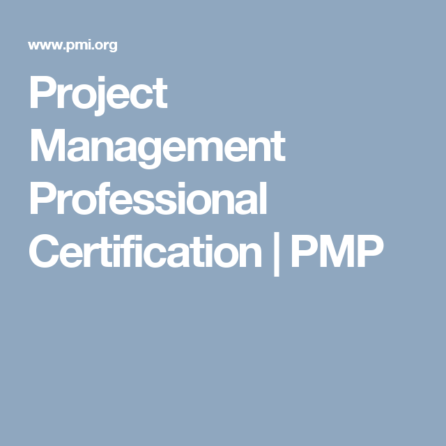 Project Management Professional Certification Pmp Mba