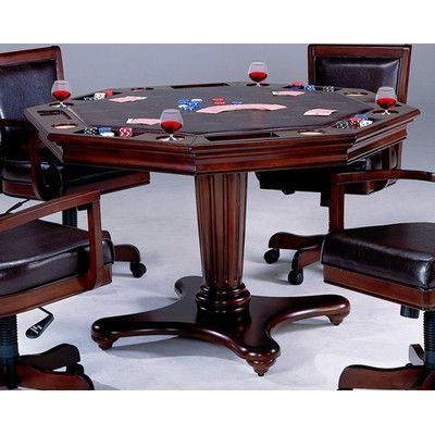 Darby Home Co Kilkenny 52 8 Player Poker Table Hillsdale Furniture Game Room Furniture Game Table And Chairs