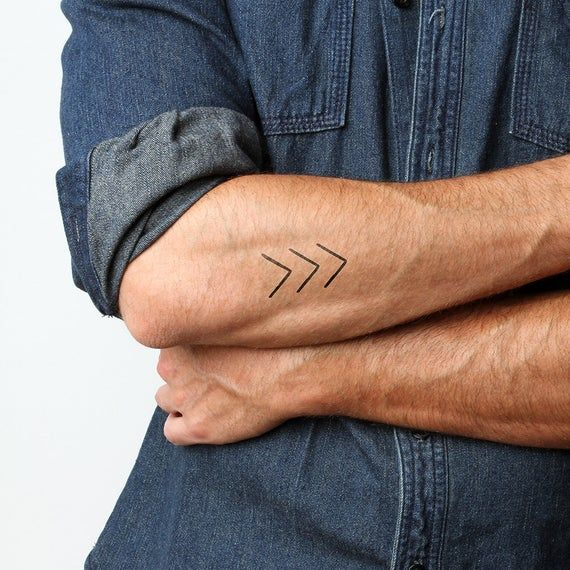 Arrow  Temporary Tattoo Set of 2 | Etsy
