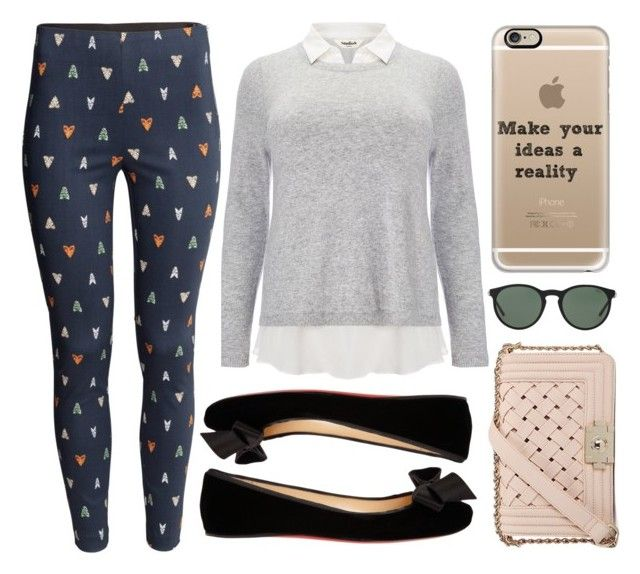 """❁"" by brenndha ❤ liked on Polyvore featuring moda, Studio 8, H&M, Christian Louboutin, Casetify, Polo Ralph Lauren, GetTheLook, gorgeous, Luxe y HowToWear"