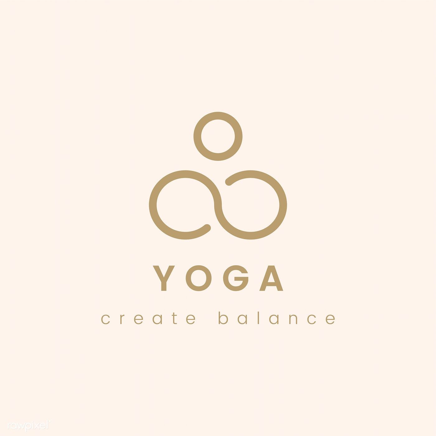 Design Of Yoga Create Balance Logo Vector Free Image By Rawpixel Com Yoga Logo Design Yoga Logo Logo Design