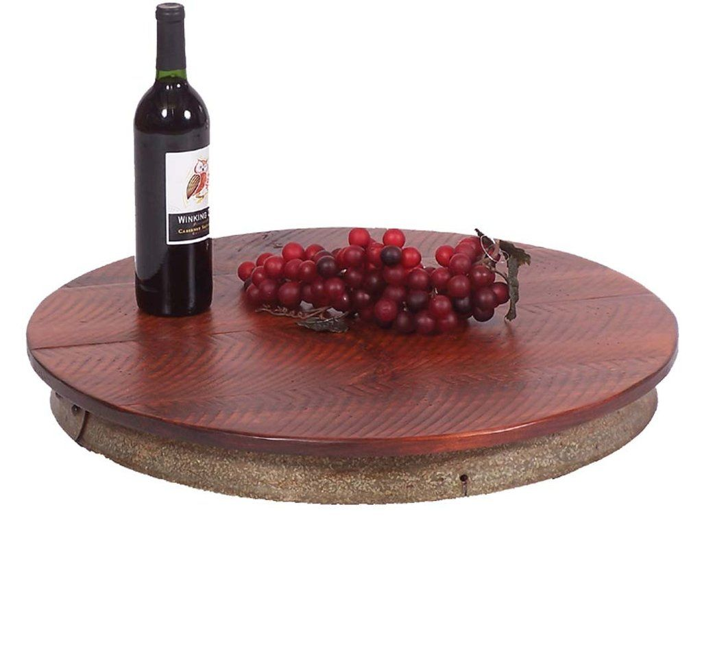 Reclaimed Wine Barrel Lazy Susan Xl Our Oversized Reclaimed Wine Barrel Lazy Susan Is Skillfully Wine Barrel Lazy Susan Wine Barrel Metal Wine Barrel Rings