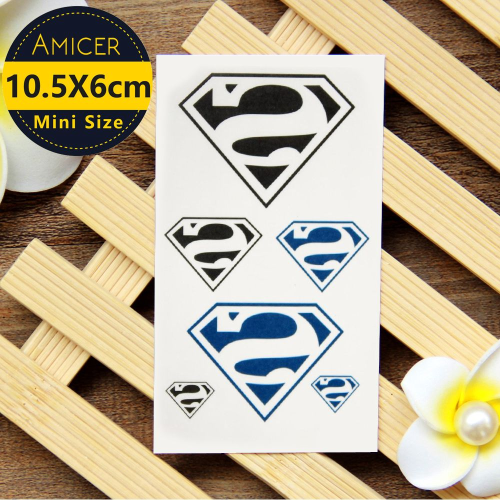 Tattoos for men with kids waterproof temporary tattoo sticker cool superman tattoo water