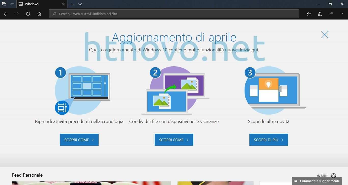 Windows 10 Aggiornamento di aprile Windows 10, Windows
