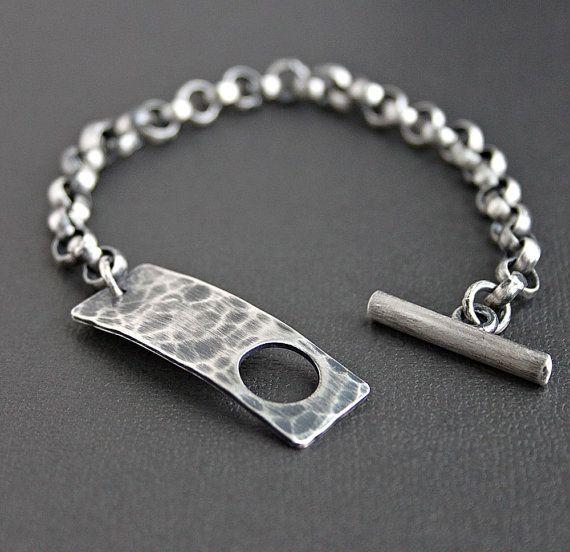 634382b9af8d Pulsera de cadena de plata Sterling para hombre por LynnToddDesigns