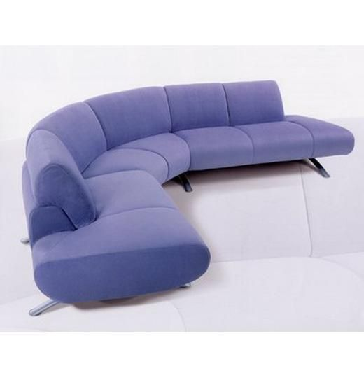 Armless Curved Contemporary Sofa With Images Contemporary