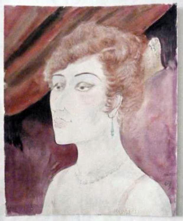 """Otto Dix, """"Dame in der Loge"""", 1922"""