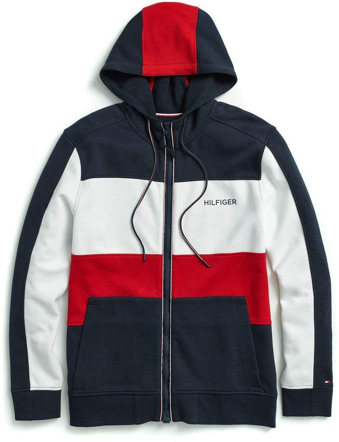 368b1a08f Colorblock Hoodie | Products | Tommy hilfiger sweatshirt, Tommy ...