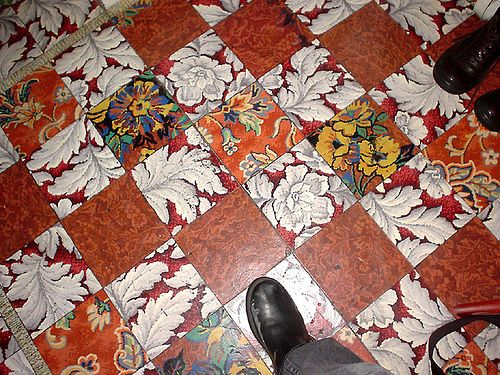 Vintage Linoleum Tiles Interior Vinyl Flooring