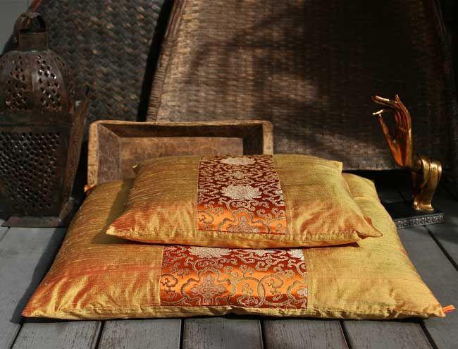 Good Karma Silk Zafu and Zabuton. Ideal for comfortable meditation ...