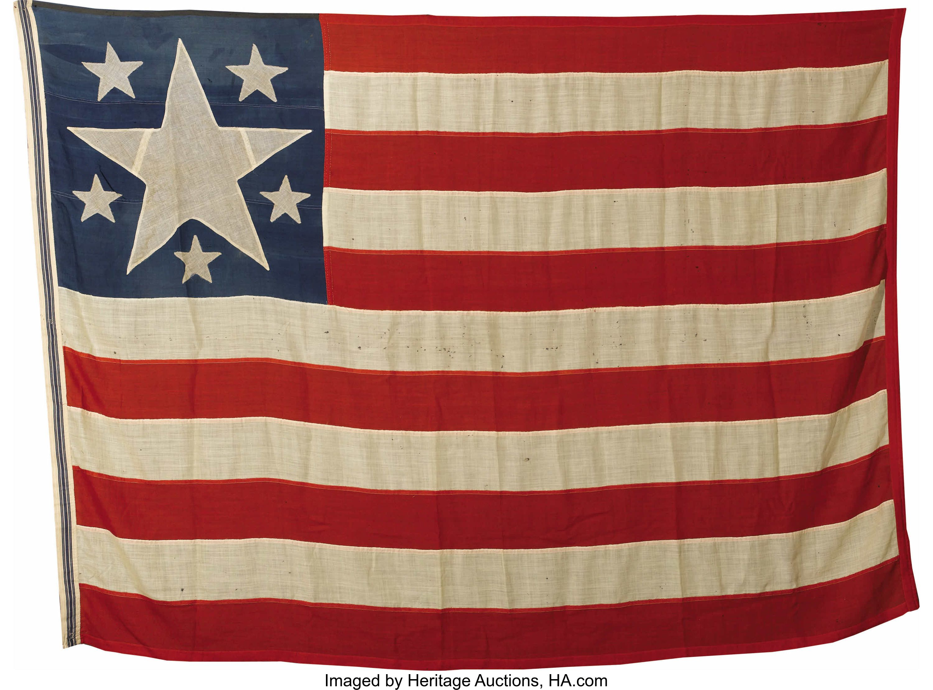 A Very Rare Confederate Secession Flag 1861 This Is An Extremely Rare Confederate Secession Flag One Of Only Two Kno Civil War Art Civil War Flags War Flag