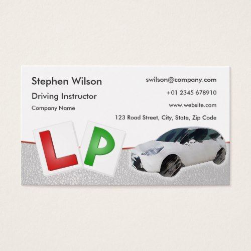Driving Instructor Business Card Zazzle Com With Images