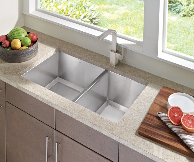 1600 Series 34 X20 Stainless Steel 16 Gauge Double Bowl Sink G16221 In 2020 Single Handle Kitchen Faucet Kitchen Sinks For Sale Kitchen Handles