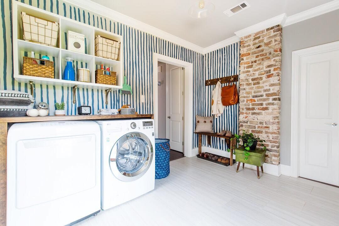 Laundry Room Mud Room Entertaining Space An Interesting Challenge For Eas Laundry Room Makeover Laundry Room Design Room Makeover