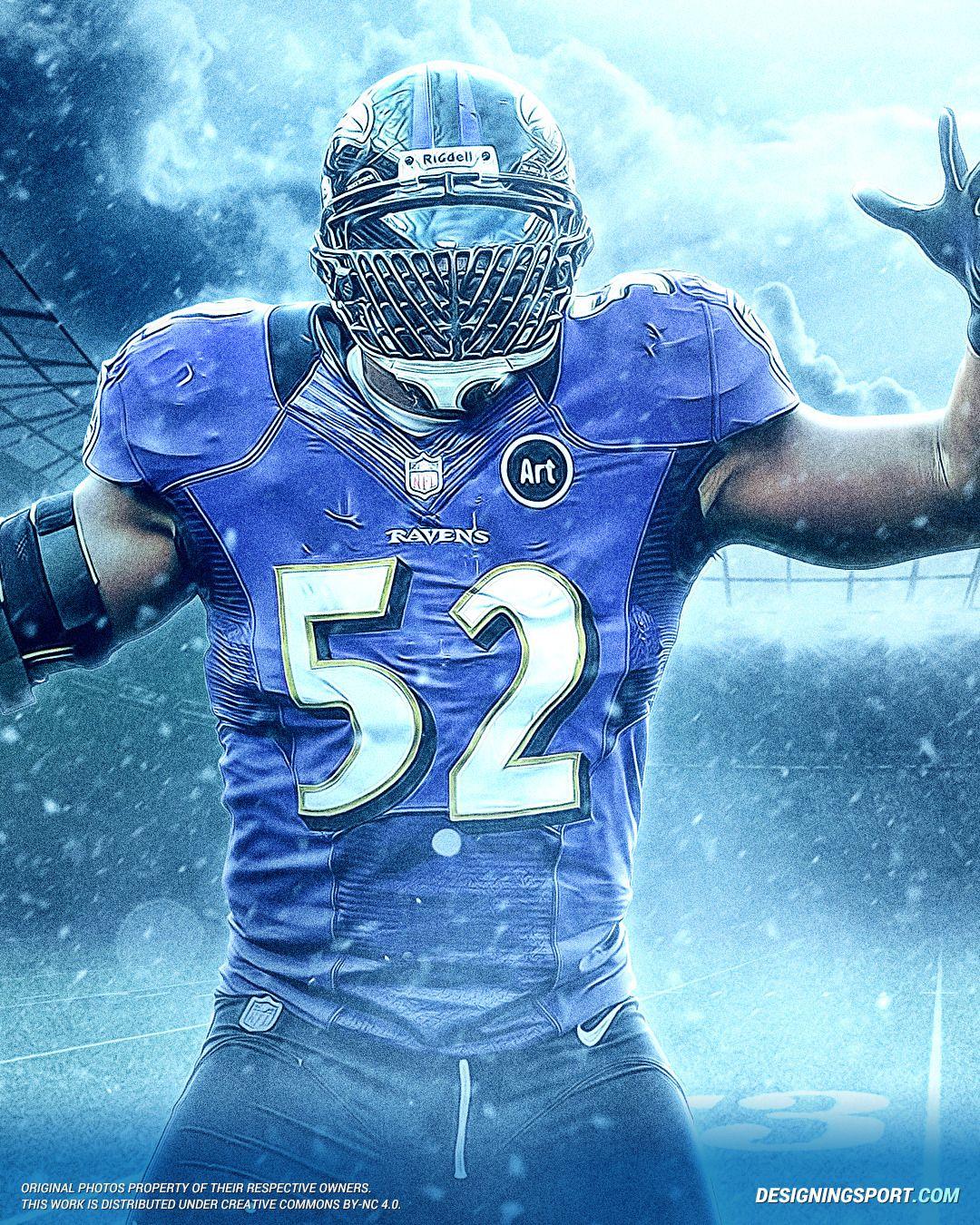 Ray Lewis Baltimore Ravens Designing Sport Nfl Football Art Ravens Football Baltimore Ravens Football